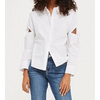 TopShop Tie-Sleeve Women's Button Down Shirt Blouse