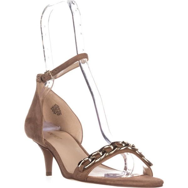 Nine West Lioness Ankle-Strap Sandals, Natural Suede - 9.5 us