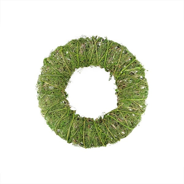 """15"""" Green Moss and Vine Artificial Spring Wreath"""