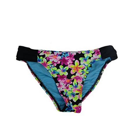 California Waves Juniors Summer of Love Printed Hipster Bikini Bottom Multi L