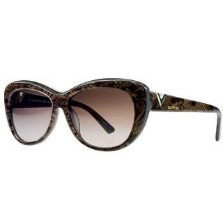 Valentino V628/S 204 Chocolate Pearl Cateye Sunglasses