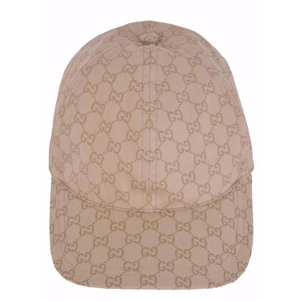 3d0c7ece148 Gucci Men  x27 s 387561 Beige GG Guccissima Web Stripe Baseball Cap Hat L