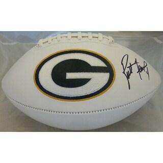 Brett Favre Autographed Green Bay Packers White Panel Football PSADNA