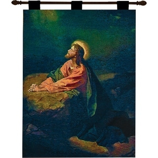 """Religious Garden of Gethsemane Wall Hanging Tapestry 26"""" x 36"""""""