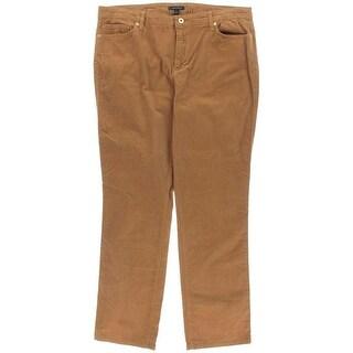 Tommy Hilfiger Womens Corduroy Mid-Rise Straight Leg Pants