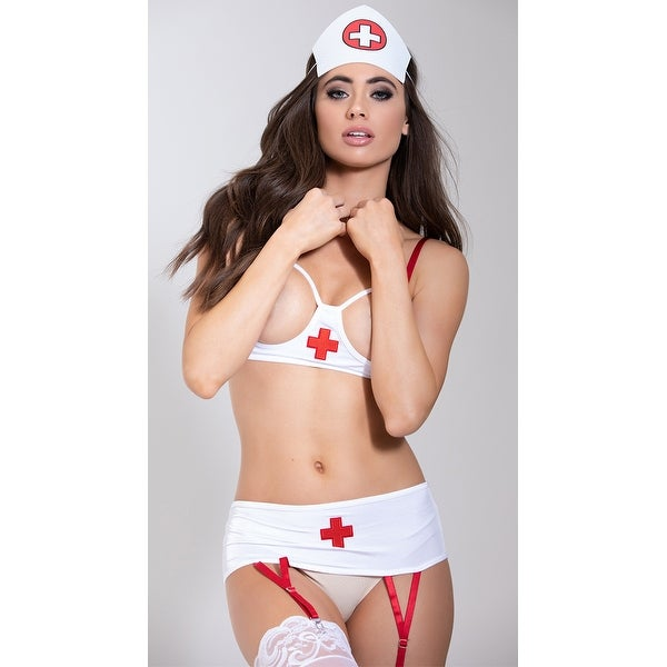 a30f6a2a1cc Shop Plus Size Nurse This Lingerie Costume - White - Queen - Free Shipping  On Orders Over  45 - Overstock - 17953505