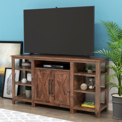 65-inch Brown Rustic Media TV Stand