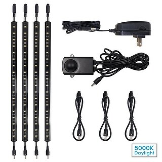 LED Safe Lighting Kit, (4) 12'' Linkable light bars + Motion Sensor + Power adapter
