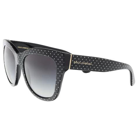 78631ec0306e Dolce & Gabbana DG4270 31268G Pois White on Black Square Sunglasses - 55-19-