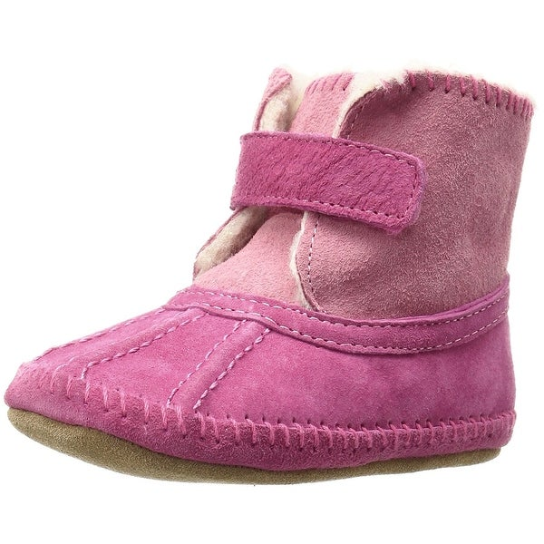Robeez Baby Galway Cozy Boot Slip On, Pink, Size 12-18 Months M US Infant