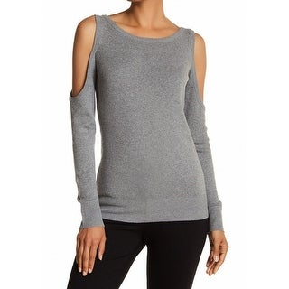 Tracy Reese NEW Gray Women Size Medium M Cold-Shoulder Pullover Sweater
