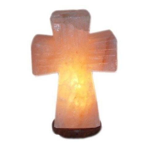 Inspirational Himalayan Salt Small Standing Cross Lamp