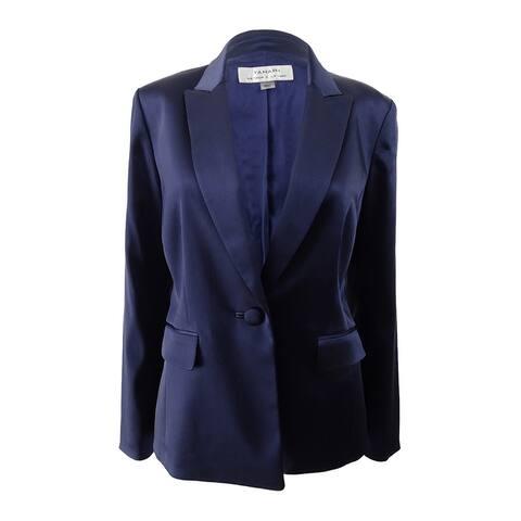 Tahari ASL Women's One-Button Blazer (6, Navy) - Navy - 6