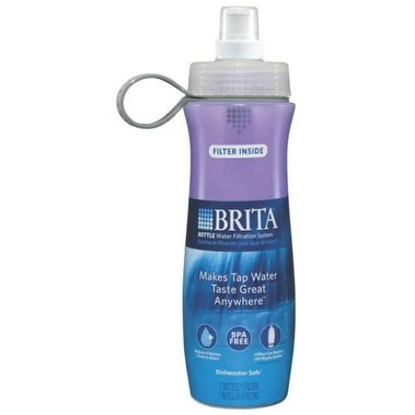 Brita 35663 Soft Squeeze Water Filtration Bottle, Violet