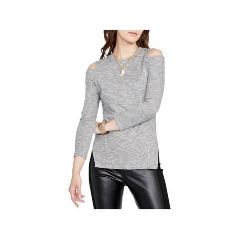 Rachel Rachel Roy Womens Pullover Top Heathered Cold Shoulder