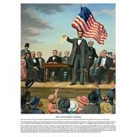 ''The Gettysburg Address'' by Carl Braude Americana Art Print (24 x 18 in.)