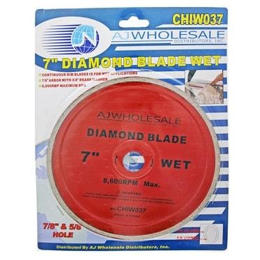 7 Wet Cut Diamond Blade