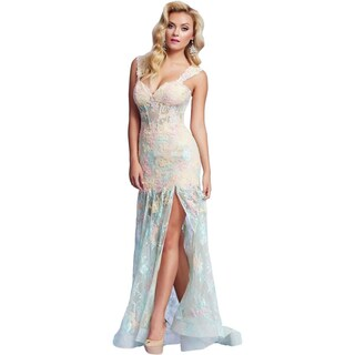 Mac Duggal Womens Formal Dress Lace Boning (2 options available)