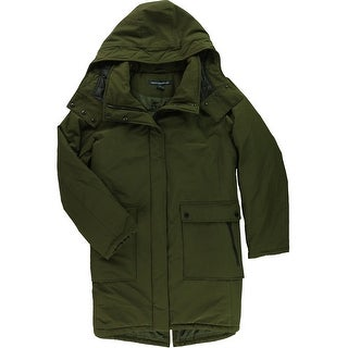Link to French Connection Womens Down Parka Coat, green, XX-Large Similar Items in Women's Outerwear