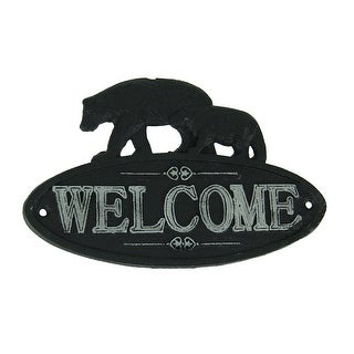 Link to Rustic Black and White Cast Iron Bear Pair Welcome Sign Similar Items in Doors & Windows