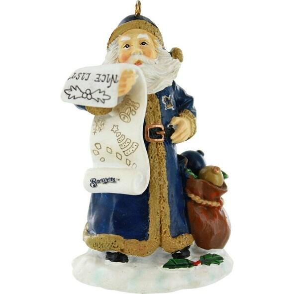 Milwaukee Brewers Naughty/Nice List Santa Ornament