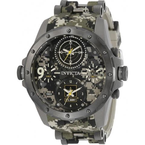 Invicta Men's 31967 'U.S. Army' Gunmetal Silicone Watch