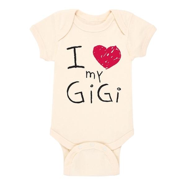 I (Heart) Gigi, Scribbled Grandparent Shirts - Infant One Piece