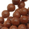 Goldstone 6mm Round Beads /15.5 Inch Strand - Thumbnail 0