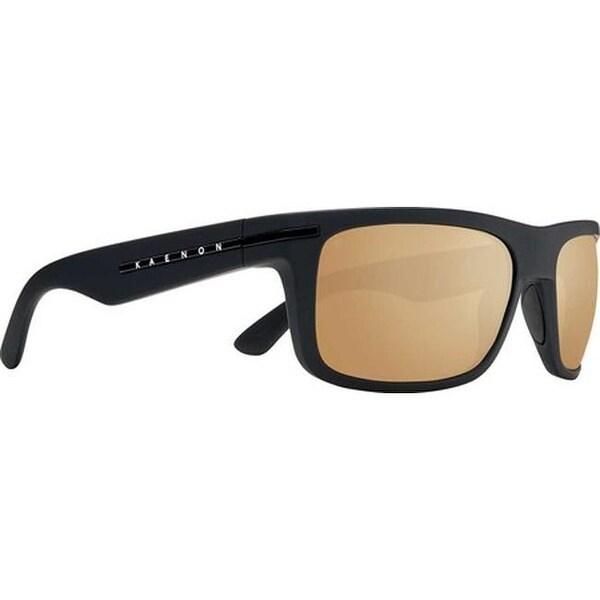 7fce18330b2 Kaenon Burnet Polarized Sunglasses Black Matte Grip Brown Gold Mirror - US  One Size (