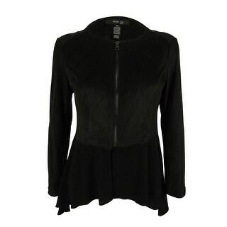 Style & Co. Women's Asymmetrical Faux-Suede Jacket - pm