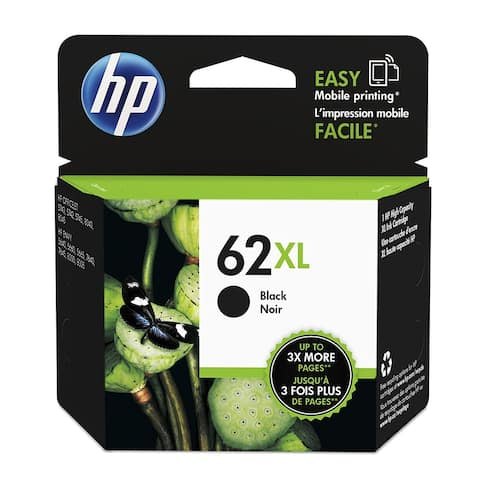 HP 62XL Black High Yield Original Ink Cartridge (C2P05AN) - black