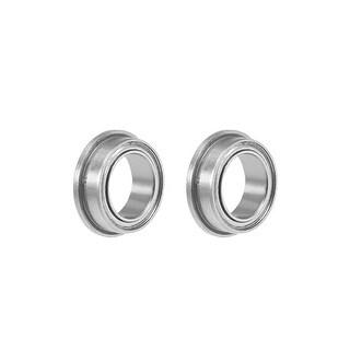 "FR168ZZ Flange Ball Bearing 1/4""x3/8""x1/8"" Double Shielded Chrome Bearings 2pcs - 2 Pack - FR168ZZ (1/4""x3/8""x1/8"")"