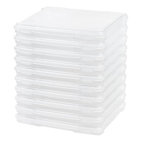 Slim Portable Project Case in Clear (9-Pack)