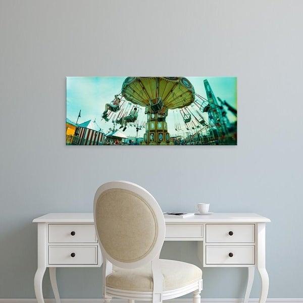 Easy Art Prints Panoramic Images's 'Amusement park ride, Luna Park, Coney Island, Brooklyn, New York City' Canvas Art