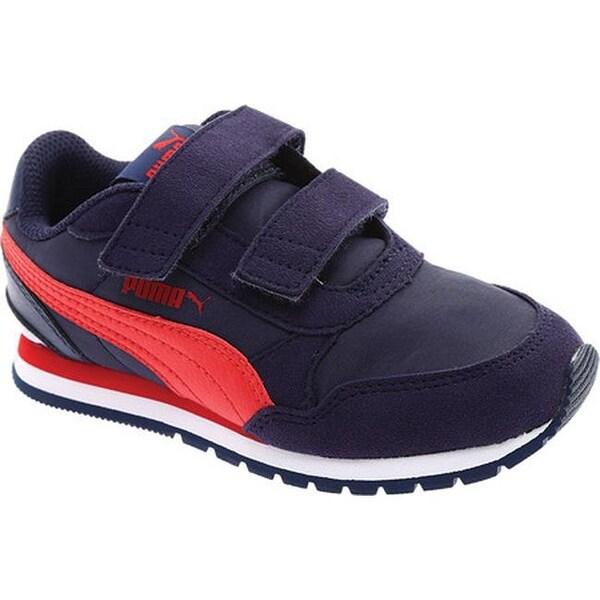 66d37dde4ca Shop PUMA Children s ST Runner V2 NL V PS Sneaker Peacoat Ribbon Red ...