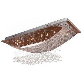Luxury Crystal 8 Light, Ceiling Light, Fixture Flush Mount