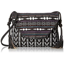 Twig & Arrow Womens Canvas Printed Crossbody Handbag - black multi - SMALL