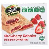Health Valley Organic Multigrain Cereal Bars - Strawberry Cobbler - Case of 6 - 7.9 oz.