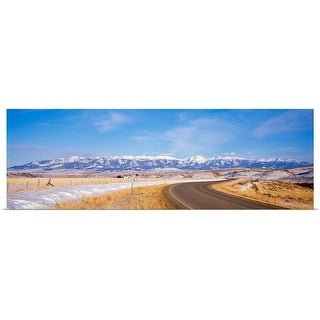 """Road passing through a landscape, Crazy Mountains, Montana"" Poster Print"