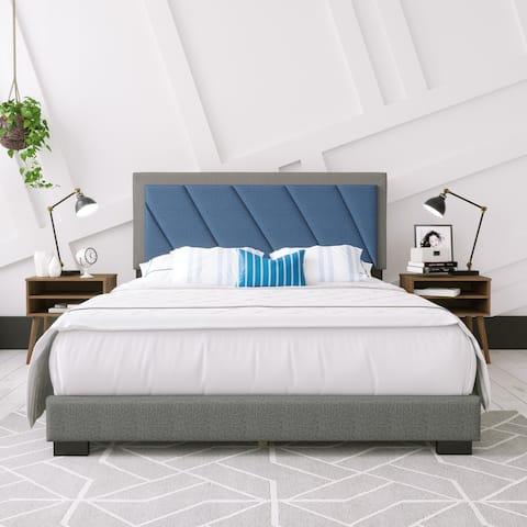 Sleep Sync Dario Linen Upholstered Bed Frame