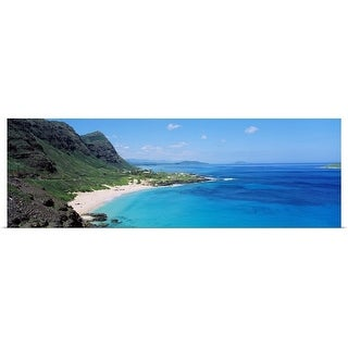 """High angle view of a coast, Makapuu, Oahu, Hawaii"" Poster Print"