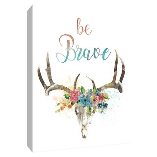 "PTM Images 9-148672  PTM Canvas Collection 10"" x 8"" - ""Be Brave"" Giclee Sayings & Quotes Art Print on Canvas"