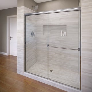 "Basco 3500-44SCL  Classic 65-1/2"" High x 44"" Wide Bypass Framed Shower Door with Clear Glass"