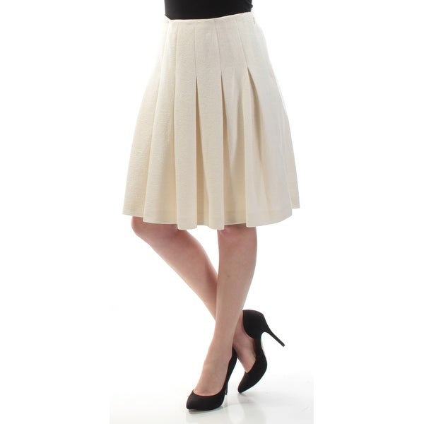 ce72450a53 Shop TOMMY HILFIGER Womens Ivory Knee Length Pleated Skirt Size: 4 - Free  Shipping On Orders Over $45 - Overstock - 21272617