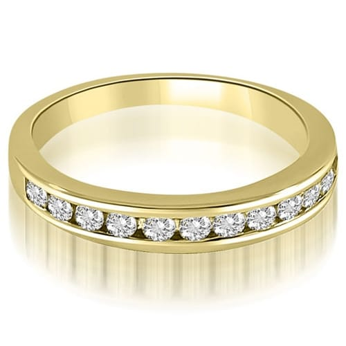 0.52 cttw. 14K Yellow Gold Classic Channel Set Round Cut Diamond Wedding Ring