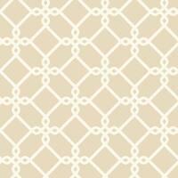 York Wallcoverings GE3624 Ashford Geometrics Threaded Links Wallpaper - beige and white