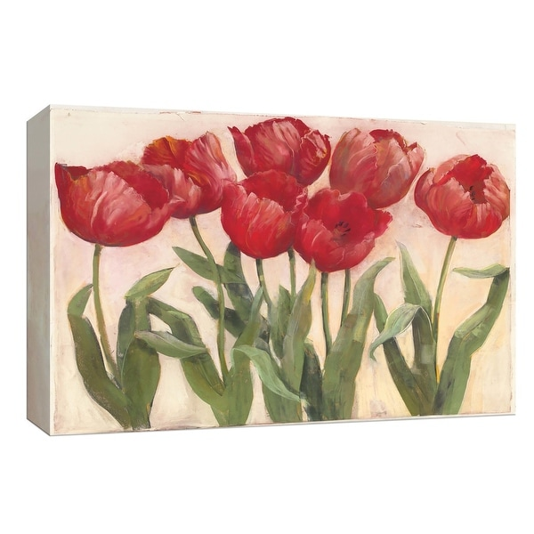 "PTM Images 9-153646 PTM Canvas Collection 8"" x 10"" - ""Ruby Tulips Neutral"" Giclee Flowers Art Print on Canvas"