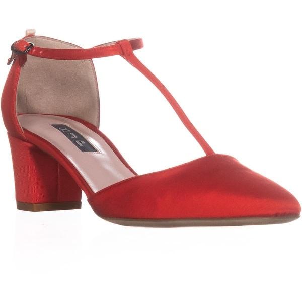 SJP by Sarah Jessica Parker Pet Buckle Heels, Red Grosgrain - 6.5 us / 36.5 eu
