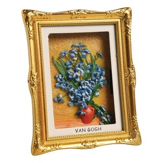 "Van Gogh Painting Shadowbox Fridge Magnet - Mini Framed 3-D - 3"" x 3 1/2"""
