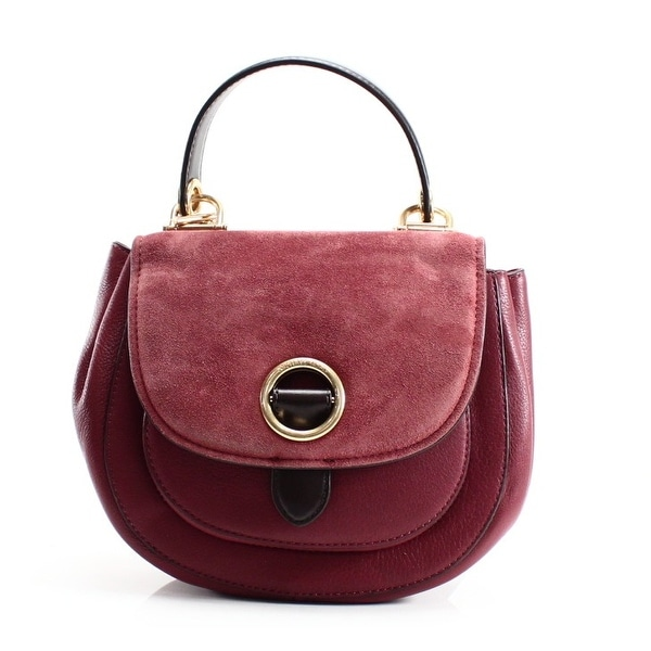 bbaaa194f371 Shop Michael Kors NEW Brick Red Leather Medium Isadore Cross Body ...